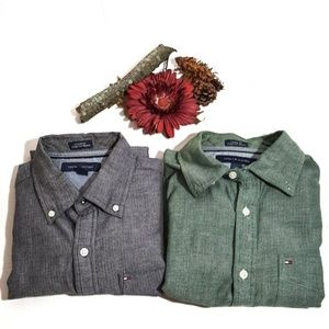 Bundle 2 Shirts TOMMY HILFIGER Custom Fit Size S